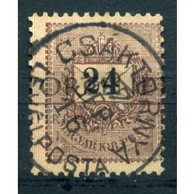 CSÁKTORNYA 24 Kr. szép bélyegzéssel