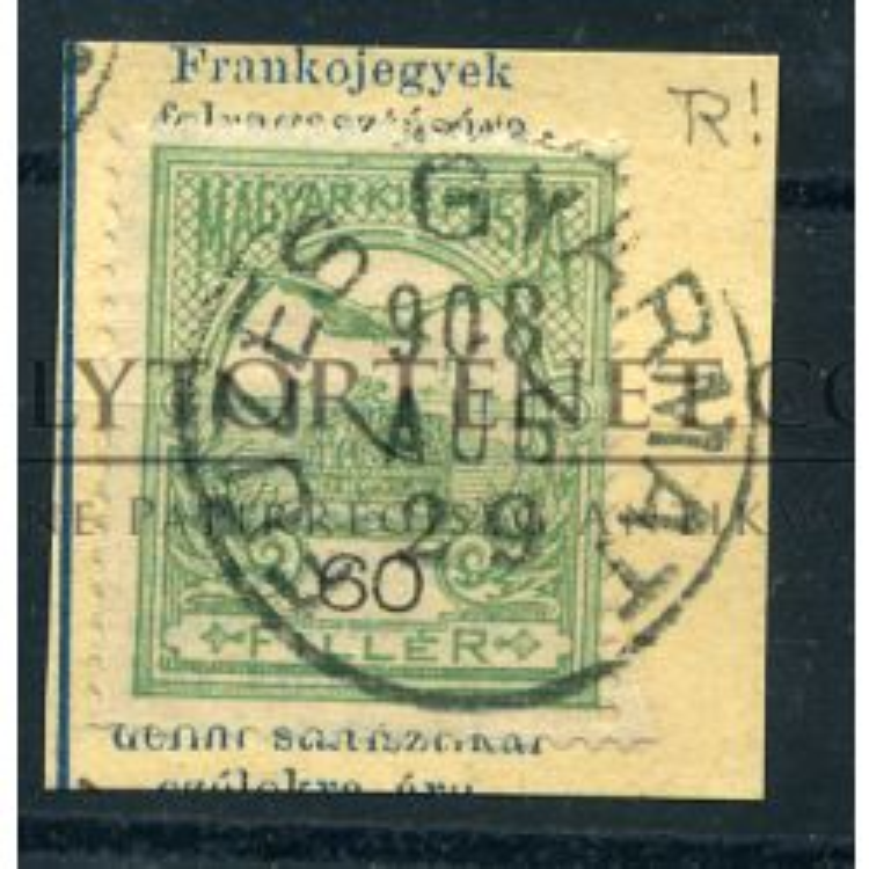 FÜZESGYARMAT 1908. bélyegzés