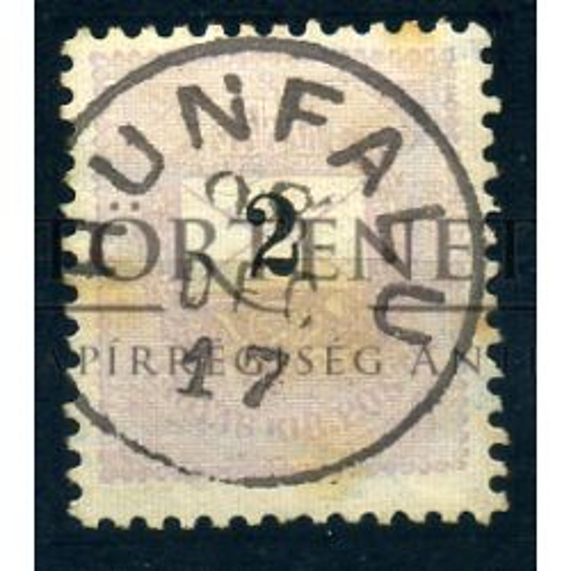 HUNFALU 2Kr szép bélyegzés