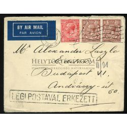 UNITED KINGDOM 1931. Nice airmail cover to Hungary    ##