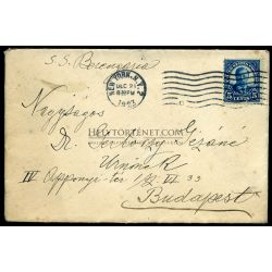 UNITED STATES 1923. Old cover with S.S. Berengaria to Budapest Hungary
