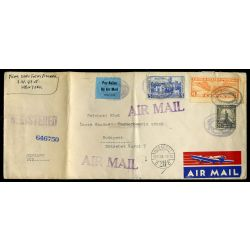 UNITED STATES 1937. Old airmail cover to Hungary           ##